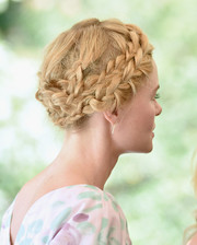 Kate Bosworth looked oh-so-lovely wearing this elaborate crown braid at the launch of the Style Thief fashion app.