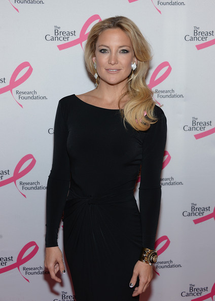 Kate Hudson Cuff Bracelet [clothing,dress,shoulder,little black dress,hairstyle,cocktail dress,blond,fashion,joint,long hair,hot pink,arrivals,kate hudson,the waldorf,astoria,new york city,party,hot pink party]