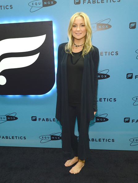 Kate Hudson Shawl-Collar Cardigan [carpet,premiere,red carpet,design,flooring,event,style,kate hudson,hudson,fabletics launches,west los angeles,california,equinox sports club,fabletics,justfab inc.,studio cycling session,launch]