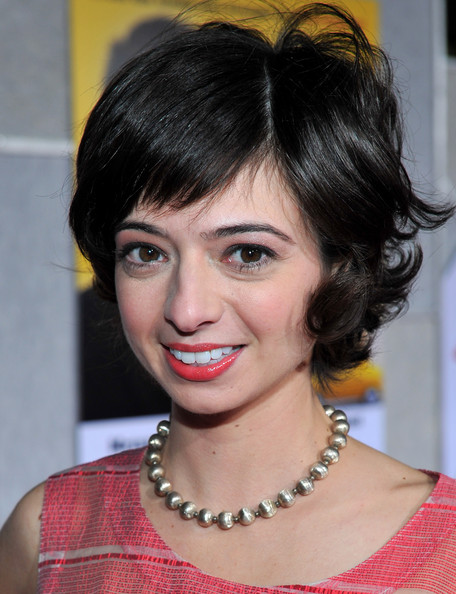 Kate Micucci Short Wavy Cut [when in rome,hair,face,hairstyle,eyebrow,chin,black hair,bangs,lip,forehead,pixie cut,kate micucci,arrivals,los angeles,california,el capitan theater,touchstone pictures,premiere,world premiere]