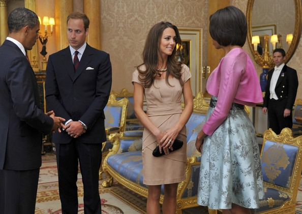 Kate Middleton Day Dress [barack obama,michelle obama,prince william,michelle,president,day one,suit,event,formal wear,ceremony,girl,official,us,uk,buckingham palace,cambridge]