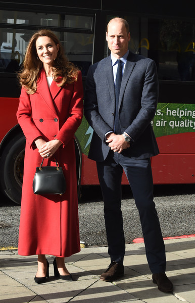 Kate Middleton Leather Purse [mark the launch of the uk,clothing,suit,red,formal wear,fashion,outerwear,coat,standing,event,footwear,duchess of cambridge,prince william,duke,duchess,wide,hold still,cambridge,community exhibition,launch,catherine duchess of cambridge,wedding of prince william and catherine middleton,kensington palace,buckingham palace,duke of cambridge,duchess of cambridge,british royal family,order of the garter]
