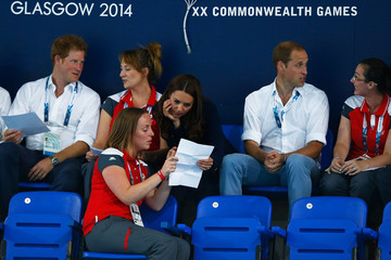 Kate Middleton Prince Harry 20th Commonwealth Games: Swimming