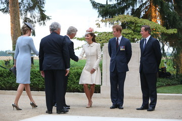 Kate Middleton Prince Harry British Royals Visit the St Symphorien Military Cemetery