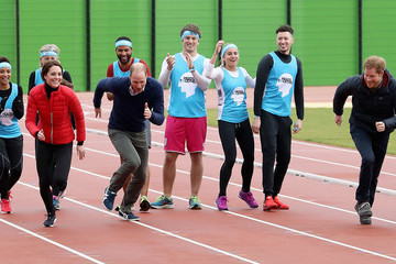 Kate Middleton Prince Harry The Duke & Duchess of Cambridge and Prince Harry Join Team Heads Together at a London Marathon Training Day