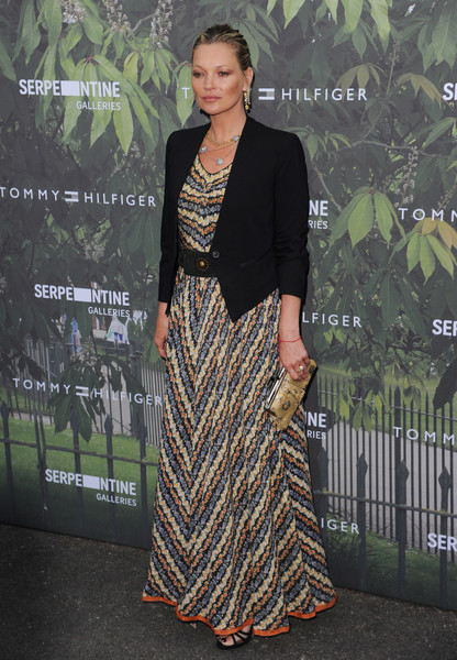 Kate Moss Cropped Jacket [clothing,dress,fashion,fashion model,carpet,formal wear,premiere,fashion design,red carpet,flooring,arrivals,kate moss,london,england,the serpentine gallery,serpentine summer party]