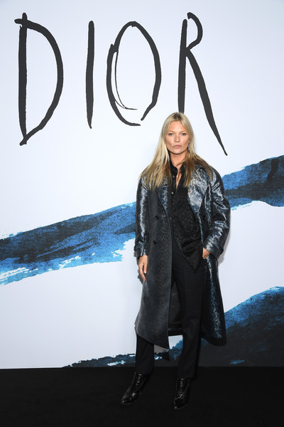Kate Moss Printed Coat [fashion,outerwear,design,fashion design,photography,photo shoot,visual arts,art,jacket,model,dior homme,kate moss,part,paris,france,dior homme menswear fall,photocall - paris fashion week,show,paris fashion week]