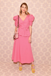 Whitney Port contrasted her pink separates with yellow platform sandals, also by Kate Spade.