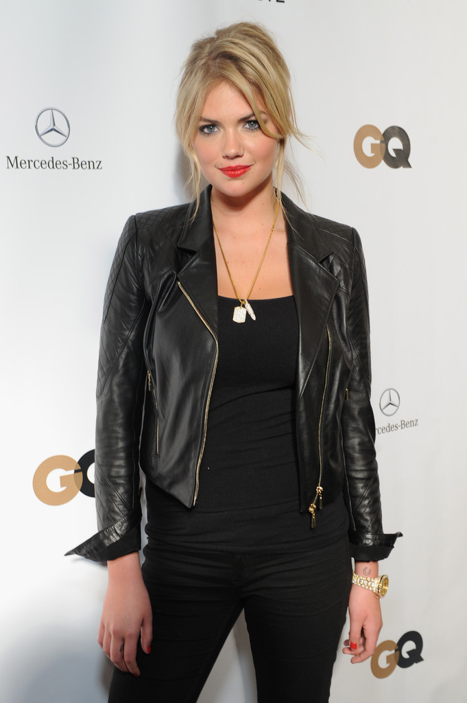 Kate Upton Leather Jacket Kate Upton Looks Stylebistro