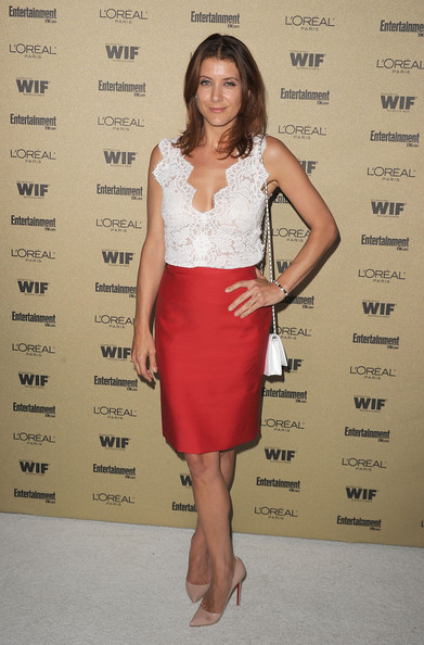 Kate Walsh Pencil Skirt [entertainment weekly and women in film pre-emmy,clothing,cocktail dress,dress,shoulder,fashion model,fashion,waist,fashion design,neck,long hair,kate walsh,arrivals,california,west hollywood,restaurant,the sunset marquis hotel,party,loreal paris,entertainment weekly and women in film pre-emmy party]