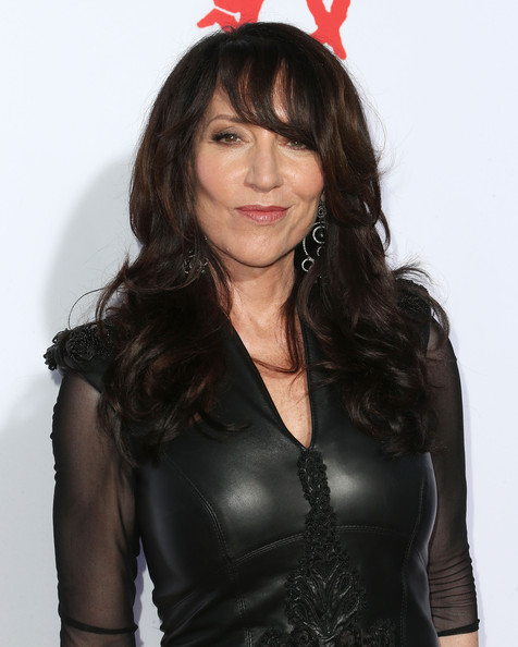 Katey Sagal Long Curls with Bangs
