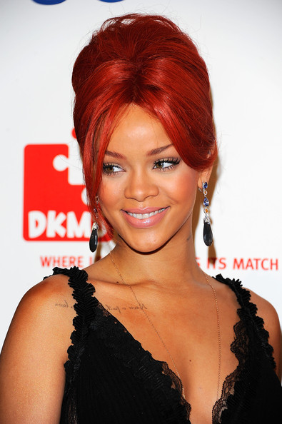Rihanna's Fiery Red Locks