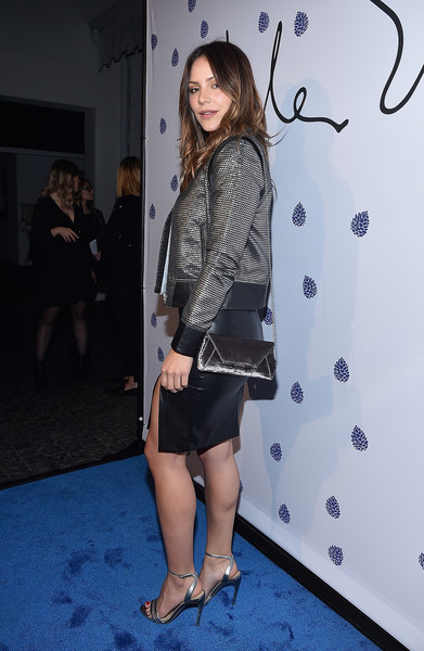 Katharine McPhee Satin Shoulder Bag