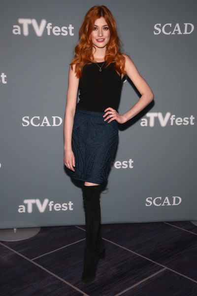 Katherine McNamara Mini Skirt