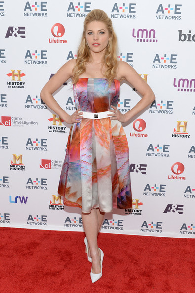 Katheryn Winnick Strapless Dress