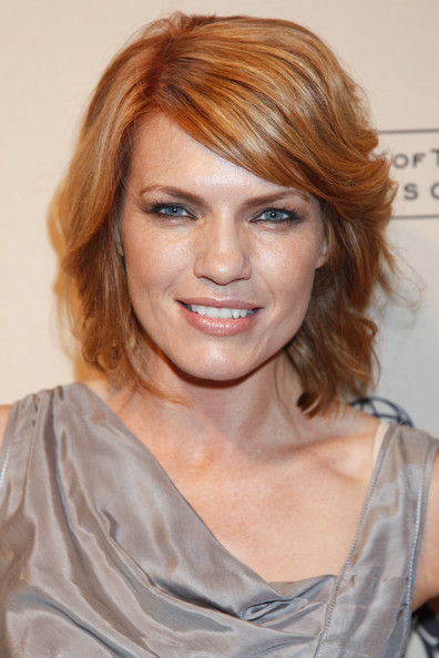 Kathleen Rose Perkins Lipgloss [hair,face,hairstyle,eyebrow,chin,blond,hair coloring,layered hair,brown hair,bangs,kathleen rose perkins,leonard h. goldenson theatre,north hollywood,california,academy of television arts sciences,writers peer group celebrates the 63rd primetime emmy awards,writers peer group reception,63rd primetime emmy awards]