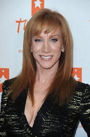 Kathy Griffin showed off her long red locks and blunt cut bangs at Universal City Walk.