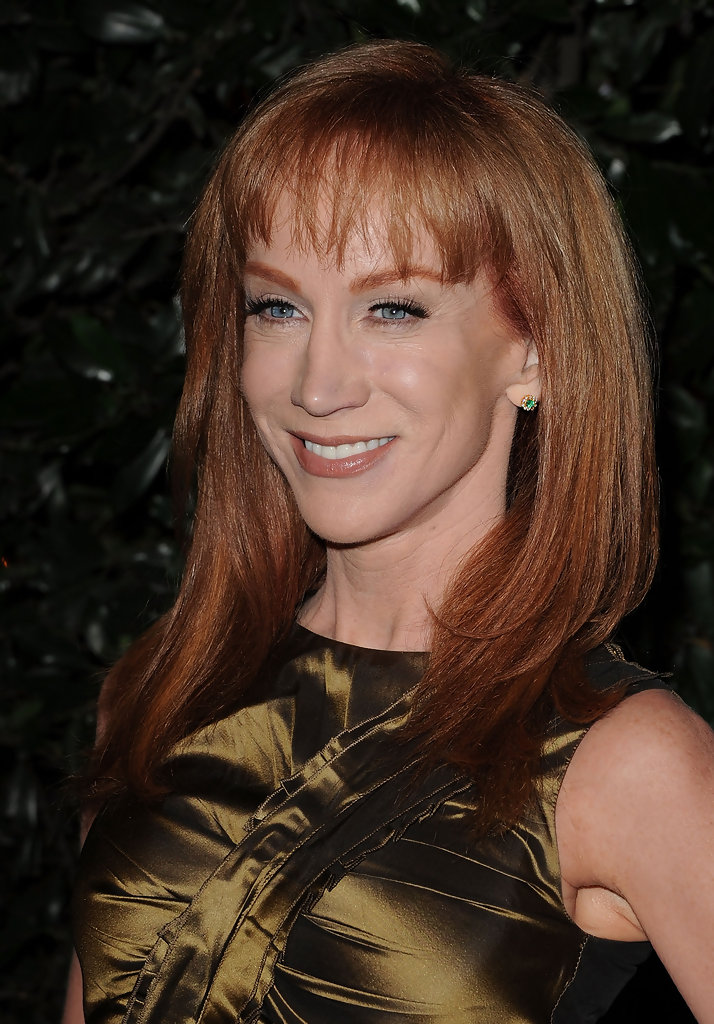 kathy griffin medium straight cut with bangs medium