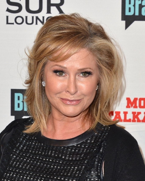 Kathy Hilton Medium Wavy Cut with Bangs