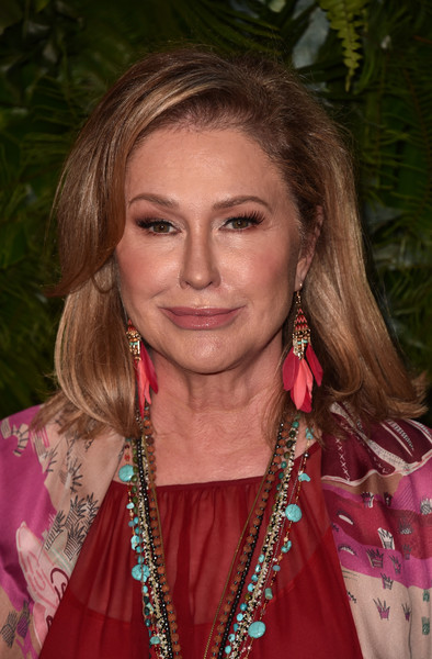 Kathy Hilton Medium Straight Cut with Bangs