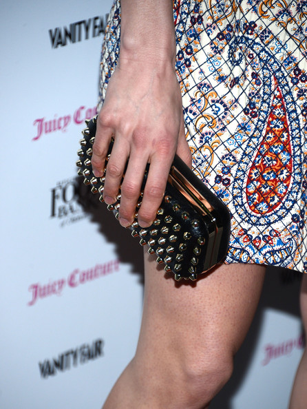 Katie Aselton Studded Clutch