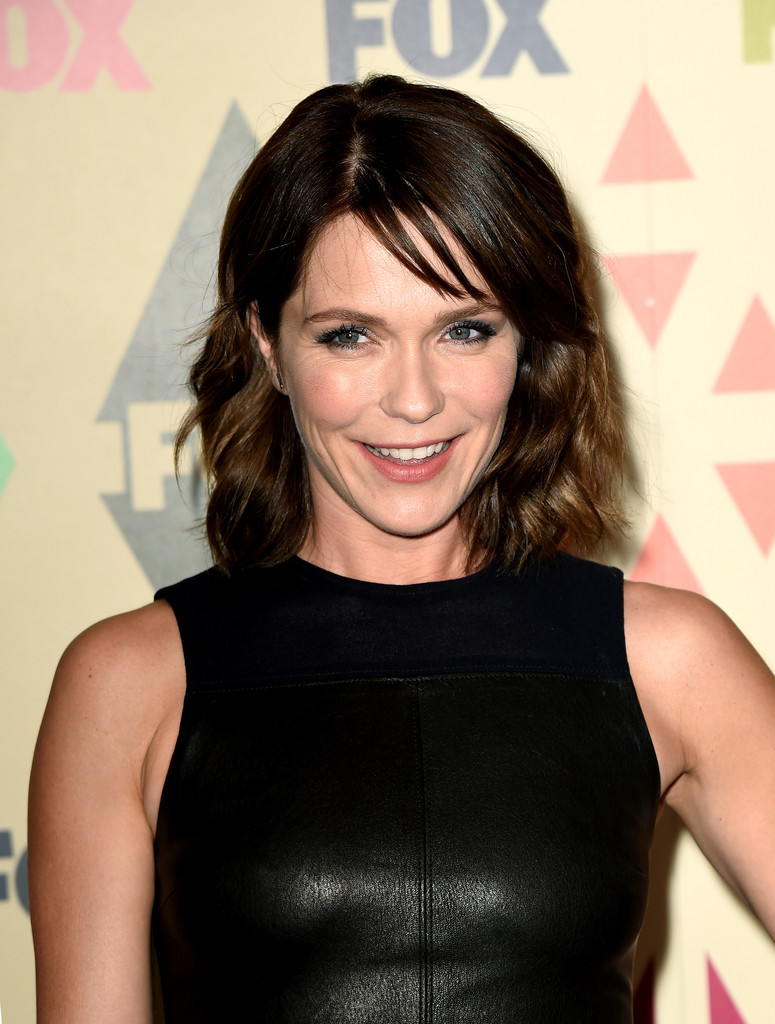 Katie Aselton Medium Wavy Cut Bangs