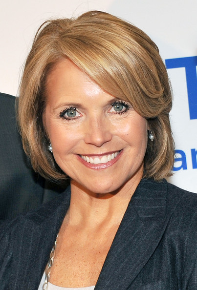 Katie Couric Bob [make that call,cbs evening news,hair,face,hairstyle,blond,eyebrow,chin,forehead,layered hair,brown hair,hair coloring,katie couric,editor,weill cornell,new york city,monahan gi center,newyork-presbyterian,colon cancer screening campaign launch,campaign launch]