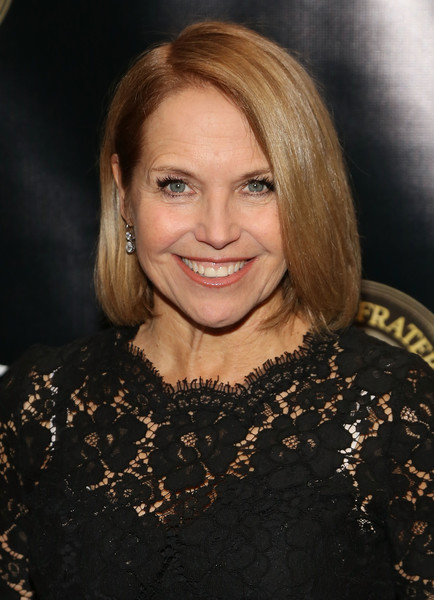 Katie Couric Bob [billy crystal with entertainment icon award,hair,eyebrow,human hair color,beauty,hairstyle,blond,chin,layered hair,long hair,fashion model,billy crystal,honors,katie couric,entertainment icon award,new york city,the ziegfeld ballroom,friars club]