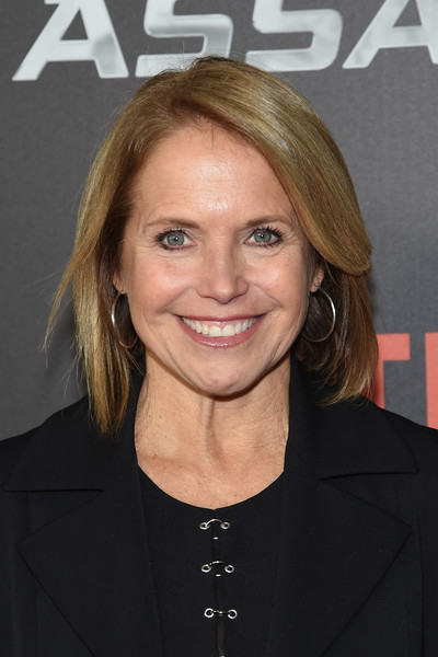 Katie Couric Bob [true memoirs of an international assassin,hair,hairstyle,blond,chin,forehead,premiere,layered hair,feathered hair,long hair,smile,katie couric,new york,amc lincoln square theater,premiere]