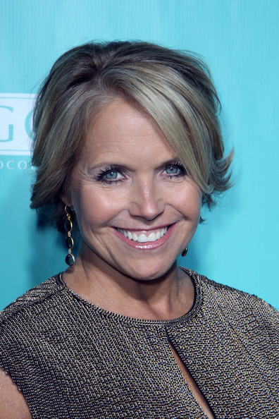 Katie Couric Short Side Part [hair,face,hairstyle,eyebrow,blond,chin,shoulder,smile,lip,forehead,katie couric,lavo,new yorkers,us weekly]