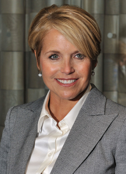 Katie Couric Short Side Part [hair,hairstyle,blond,chin,white-collar worker,layered hair,businessperson,official,smile,brown hair,katie couric,event honoree,new york new york,grand hyatt hotel,giants of broadcasting awards ceremony,giants of broadcasting awards ceremony,cbs news]