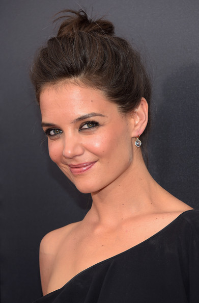 Katie Holmes Dangling Gemstone Earrings [lexus present the 2nd annual lexus short films ``life is amazing,the 2nd annual lexus short films life is amazing,the giver,hair,face,hairstyle,eyebrow,chin,lip,beauty,shoulder,forehead,blond,katie holmes,new york,sva theater,weinstein company,lexus,premiere]