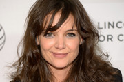 Katie Holmes Medium Wavy Cut with Bangs