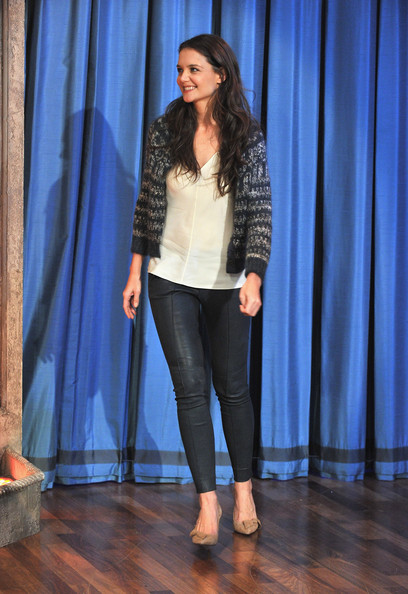 Katie Holmes Leather Pants