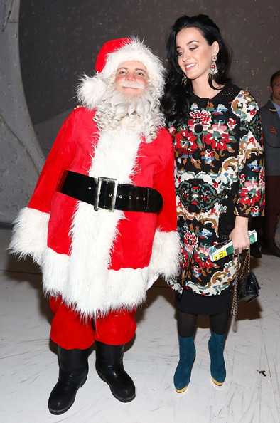 Katy Perry Ankle Boots [santa claus,christmas,fictional character,event,costume,fur,holiday,christmas eve,lap,tradition,a christmas story the musical,photos,broadway,lunt-fontanne theatre,new york city,katy perry,john mayer,santa]