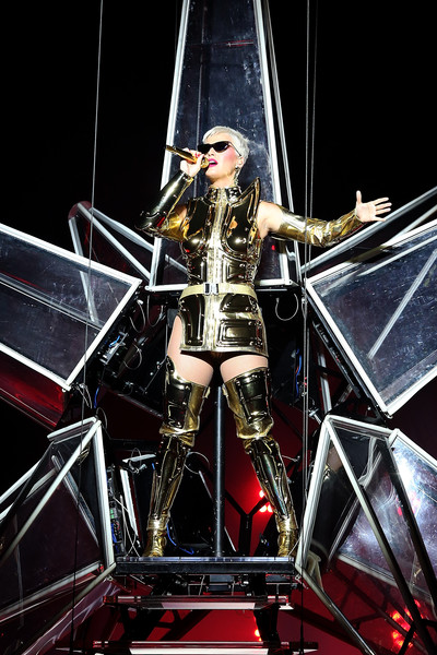 Katy Perry Over the Knee Boots [katy perry,the tour - perth,performance,entertainment,performing arts,circus,public event,event,leg,stage,performance art,musician,perth arena,perth,australia]