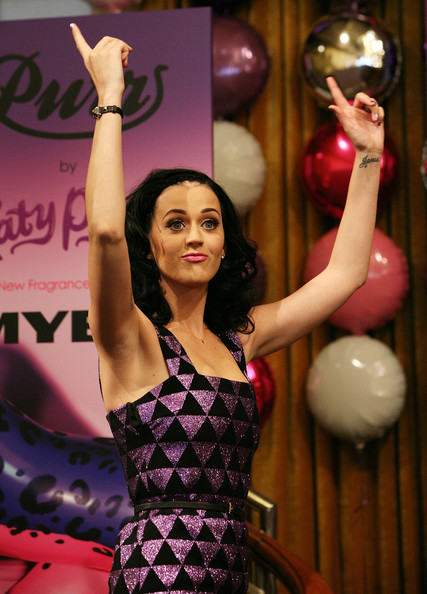 Katy Perry Leather Bracelet [pink,beauty,fashion,purple,model,performance,dress,party,fashion design,katy perry,fragrance,purr,melbourne,australia,bourke street,myer,katy perry fragrance launch,launch]