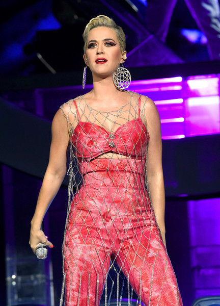 Katy Perry Dangle Decorative Earrings [fashion model,fashion show,clothing,fashion,performance,beauty,model,lady,event,public event,coachella stage,indio,california,coachella valley music and arts festival,zedd,katy perry]