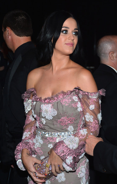 Katy Perry Statement Ring [shoulder,lady,pink,fashion,joint,lip,black hair,leg,dress,human body,katy perry,los angeles,california,amfar,milk studios,inspiration gala]
