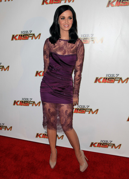 Katy Perry Cocktail Dress [clothing,red carpet,carpet,dress,cocktail dress,leg,premiere,flooring,fashion,fashion model,arrivals,katy perry,california,los angeles,nokia theater l.a. live,kiis fm,jingle ball 2010]