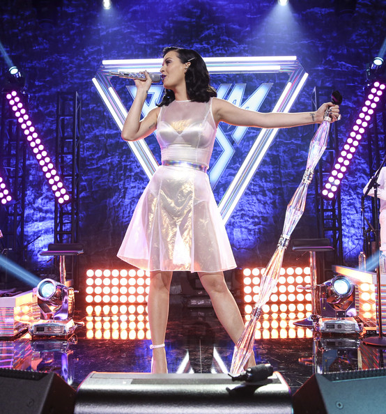 Katy Perry Sheer Dress [performance,entertainment,performing arts,music artist,stage,singing,public event,event,music,pop music,katy perry,stage,los angeles,california,katy perry iheartradio album release party,katy perry iheartradio,album release party]