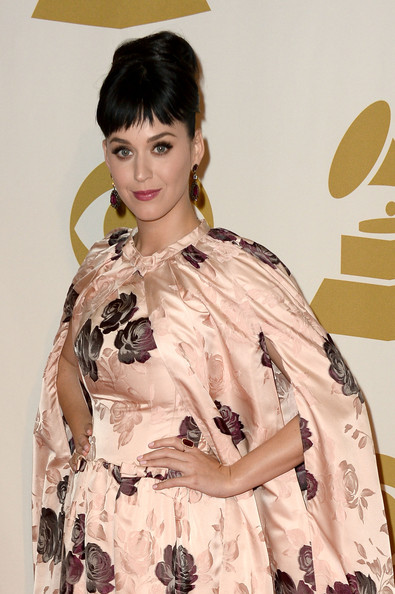 Katy Perry Gemstone Ring [katy perry,arrivals,the night that changed america: a grammy salute to the beatles,hair,clothing,hairstyle,fashion,dress,textile,fashion design,black hair,long hair,beige,los angeles convention center,los angeles,california]