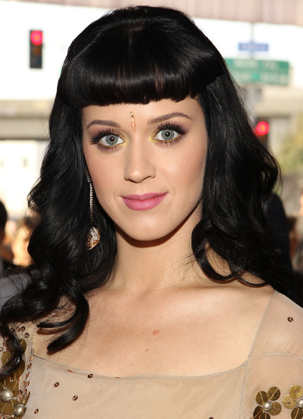 Katy Perry Long Curls with Bangs [hair,face,hairstyle,eyebrow,black hair,bangs,lip,chin,beauty,long hair,katy perry,hairstyle,hair,bangs,hair,celebrity,red carpet,face,eyebrow,52nd annual grammy awards,katy perry,celebrity,hairstyle,photograph,actor,image,pop music,bangs,red carpet]