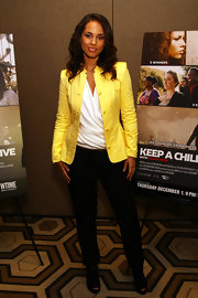 Alicia Keys was a ray of sunshine at the 'Keep a Child Alive With Alicia Keys' premiere in a bright yellow blazer.
