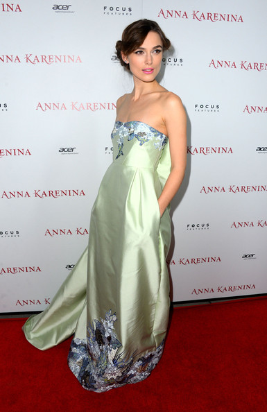 Keira Knightley Evening Dress [anna karenina,gown,shoulder,flooring,dress,hairstyle,fashion model,joint,cocktail dress,carpet,formal wear,arrivals,keira knightley,california,hollywood,arclight cinemas,focus features,premiere,premiere]