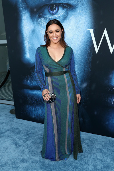 Keisha Castle-Hughes Wrap Dress
