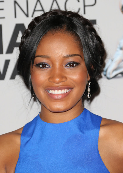 Keke Palmer Metallic Eyeshadow