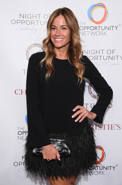 Kelly Bensimon Leather Clutch [clothing,little black dress,dress,cocktail dress,long hair,hairstyle,fur,shoulder,fashion,brown hair,cipriani wall street,new york city,night of opportunity gala,kelly bensimon]