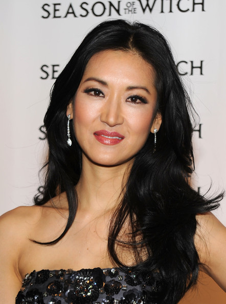 Kelly Choi Long Curls [season of the witch,hair,hairstyle,face,black hair,eyebrow,long hair,chin,shoulder,beauty,lip,kelly choi,amc lincoln square theater,new york city,relativity media,red carpet,premiere]