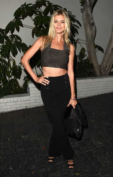 Kelly Rohrbach Crop Top [footwear,fashion model,beauty,shoulder,little black dress,flooring,leg,joint,girl,fashion,kelly rohrbach,dom perignon - arrivals,w magazine celebrates the best performances portfolio,golden globes,best performances portfolio,chateau marmont,california,audi,w magazine,celebration]